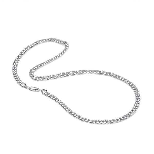Мода 100% 925 твердых стерлингового серебра Роло цепи ожерелье мужчины 18-22 дюймов популярные толстые цепи кубинской цепи серебряные ювелирные изделия