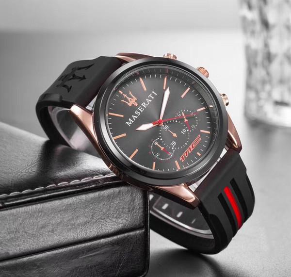 Reloj de cuarzo Premium Hombres Mujeres Marca Top maserati Relojes de acero de silicona Relojes Hombre Horloge Orologio Uomo Montre Homme RELOJ SPROT