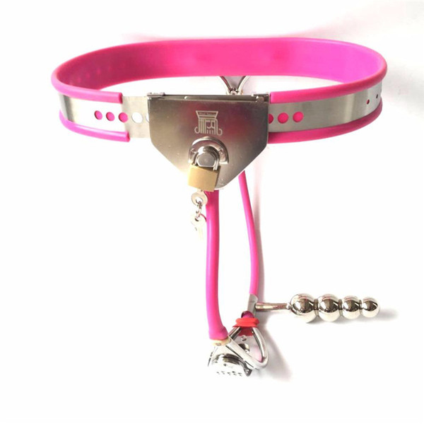 Newest Female chastity belt bondage locks device fetish wear sex toys for woman chastity panty slave bdsm products with Anal Plug