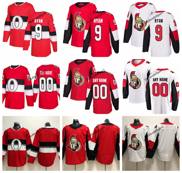official photos 8f8d4 d6299 2019 2019 Bobby Ryan Ottawa Senators Hockey Jerseys 100th Classic Mens  Custom Name Home Red #9 Bobby Ryan Stitched Hockey Shirts S XXXL From ...