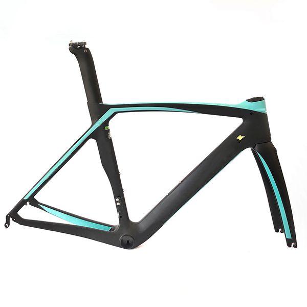 2019 new 10 colour T800 carbon road bike frame bicycle racing men and women bike frameset + handlebar carbon fibre frame