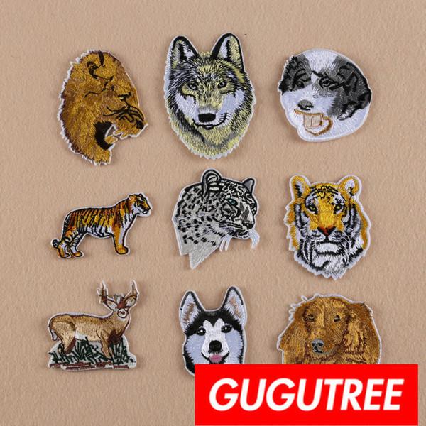 GUGUTREE Eisen auf Stickerei Tier Patches Abzeichen Patch Applique Patch für Mantel, T-Shirt, Hut, Taschen, Pullover, Rucksack SP-377