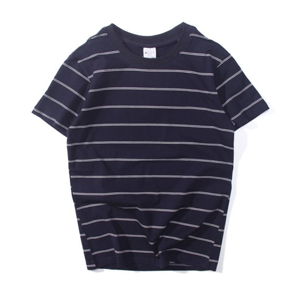 Mens Brand T-Shirts Men Summer Crew Neck Short Sleeve Tops Mens Women Fashion Striped Printed with Letter Embroidery Tshirts Couple Clothes