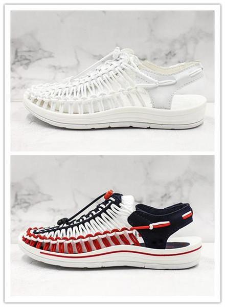 Горячие продажи женские мягкие сандалии удобные римские маленькие белые туфли летние болотные туфли высокое качество дизайнер вверх по течению обувь EU35-39