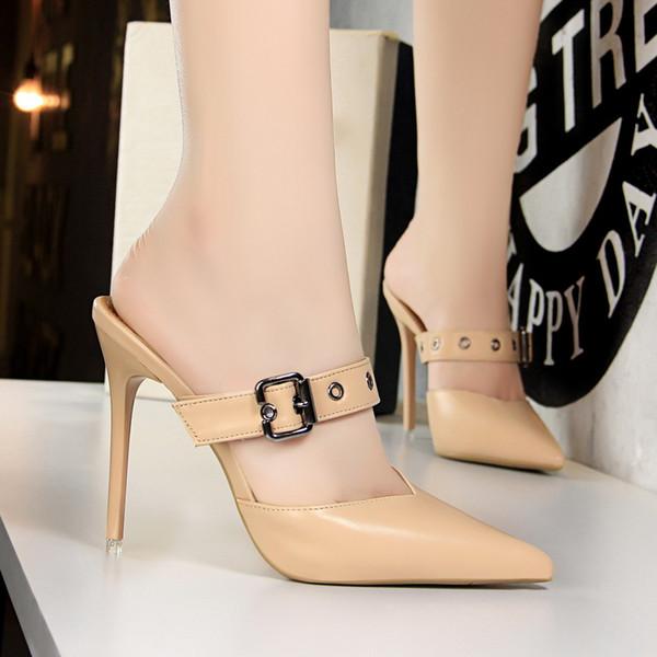 BIGTREE Shoes  Heels Mules Shoes Women Fetish High Heels Pumps Women Black Zapatos Mujer 2019 Sapato Feminino