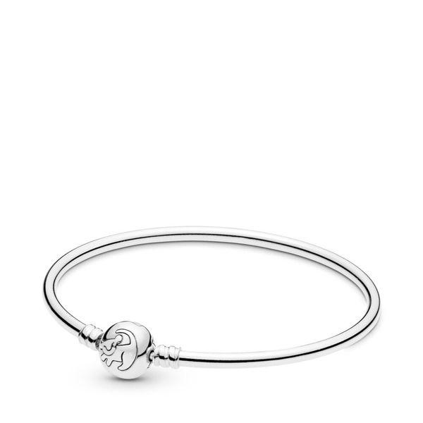 925 Ayar Gümüş Kral Aslan Bileklik Bileklik Avrupa Pandora Bilezikler Charms ve Boncuk Için Uygun
