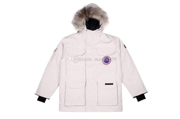 Top canada brand 2008 mens womens goose Solid Color black Parker coat down jackets women goose Outdoor Sports Cold Warm coats 7 colours