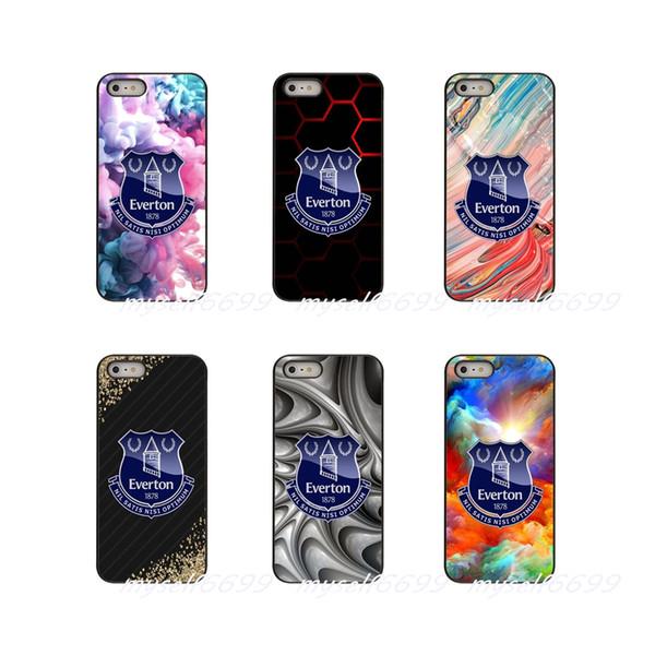 Everton futebol futebol fc equipe logotipo hard case case capa para apple iphone x xs xs max 4 4S 5 5S 5C SE 6 6 S 7 8 Mais ipod touch 4 5 6