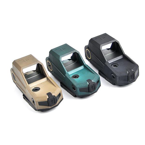 NUOVO Arrivo Hartman MH1 Tactical Red Dot Sight Scope Dual Motion Sensor Reflex Sight Campo più grande di visione notturna Caccia Scopes