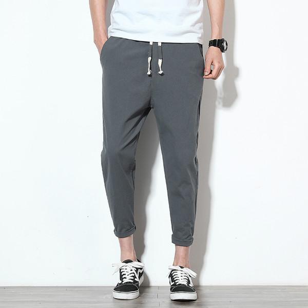 Pantalons pour hommes lisibles Longueur cheville Hombres Pantalones Mens Harem Pant Joggers Loose Pantalon de survêtement Homme Coton Pantalon Décontracté Hommes 5xl T190906