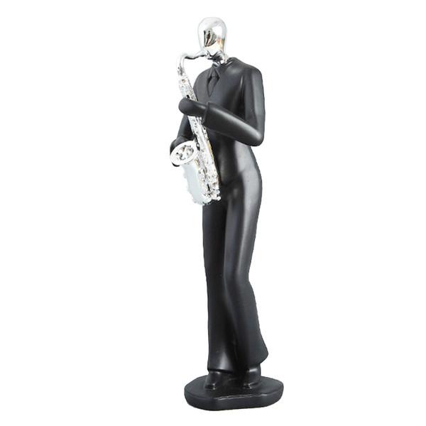 Classique Musique Band Figurines Résine Art Saxophone Joueur Musicien Figurine Home Office Salon Décoration Cadeaux