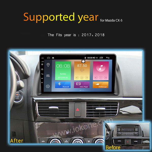 IPS 2.5D Screen 9 inch Android 8.1 Car DVD GPS Radio Player for Mazda CX5 CX-5 2013 2013- 2017 with Octa Core 4GB 64GB Auto Stereo