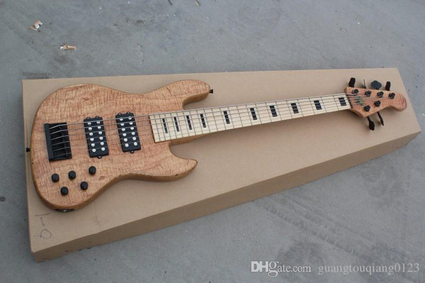Slim Matte six string electric bass wood color can be customized to change Electric Guitar