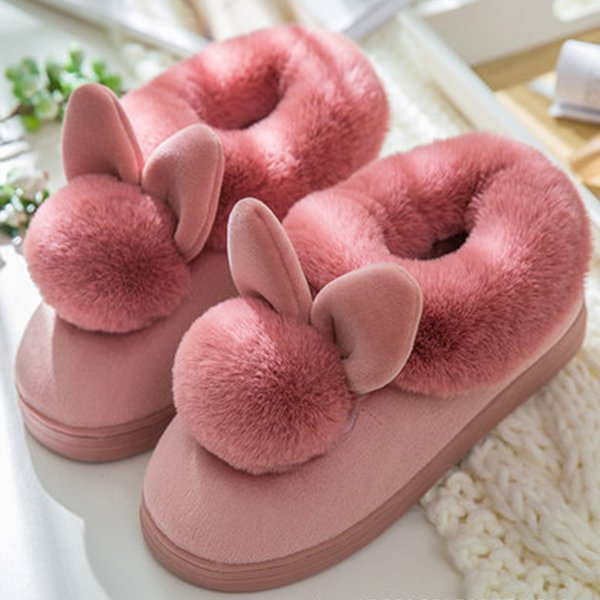 trendy female shoes fuzzy slippers velvet indoor plush slippers solid ladies home slippers adult woman shoes size 36-41 869