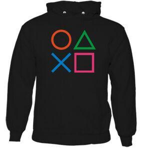 Der lustige Spiel-Hoodie der PlayStation-Knopf-Männer PS3 PS4 PS5 Retro Prüfer-Spitze