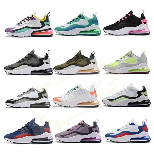 2019 270 React Running Schuhe Herren Bauhaus Hyper Black Bright Violet Armors Damenmode Athletic Sneakers Designer Trainer