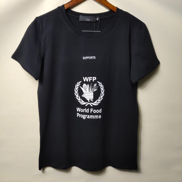 2019 Yaz Marka T Gömlek Kadınlar Tops B Mektup Baskı T-shirt Pamuk Kısa Kollu Tişört Kadın Erkek siyah beyaz S-XL Tops