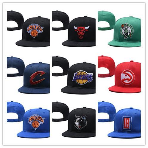 Yeni Sıcak erkek kadın Basketbol Snapback şapka marka Beyzbol Snapbacks Şapka Erkek Düz Kapaklar Ayarlanabilir Kap Spor Şapka mix sipariş