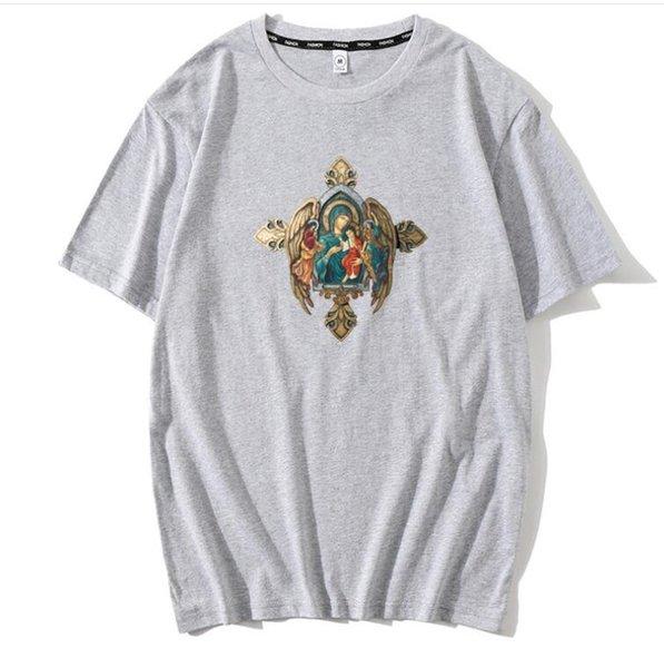 Нотр-Дам де пари футболка для мужчин лето дизайнер ангел Нотр-Дам мужская футболка с крестом с короткими рукавами топы роскошная одежда