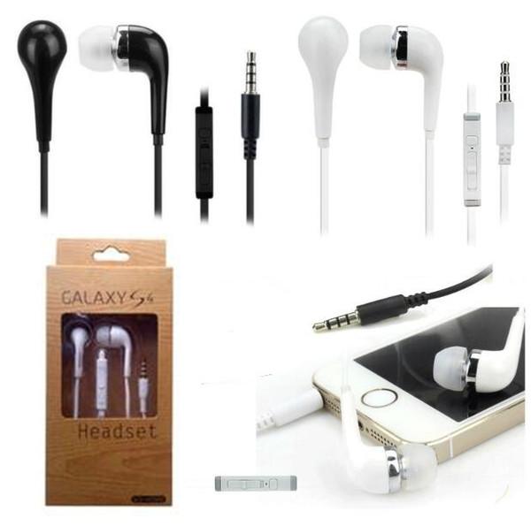 Auricular de 3,5 mm con auriculares con control remoto de volumen y micrófono para Samsung galaxy s3 s4 s5 con caja al por menor
