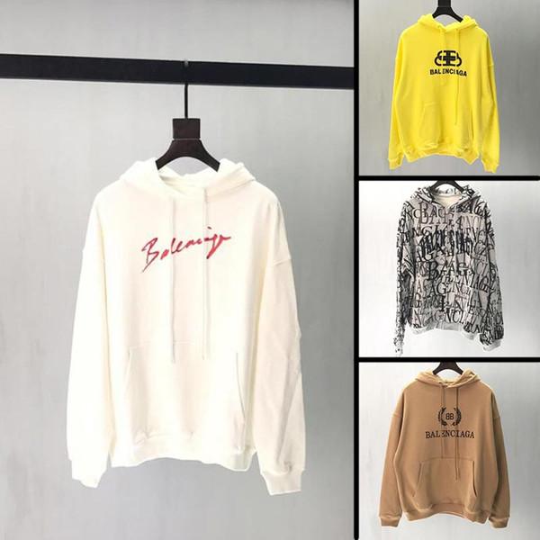 2019 new arrival autumn mens designer hoodie famous brand streetwear loose fit men sweatshirt high quality cotton man hoodies V