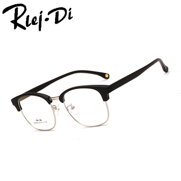 NZ028 Fashion Metal Half Frame Glasses Frame Retro Woman Men Reading Glass Protection Clear Lens Computer Eyeglass
