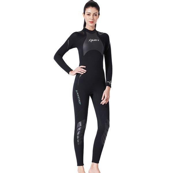 Costume De Plongée De Mode Mâle 3MM Tout-en-un Snorkeling Surf Suit Femme Épaissie Hiver Baignade À Manches Longues Jellyfish Suit