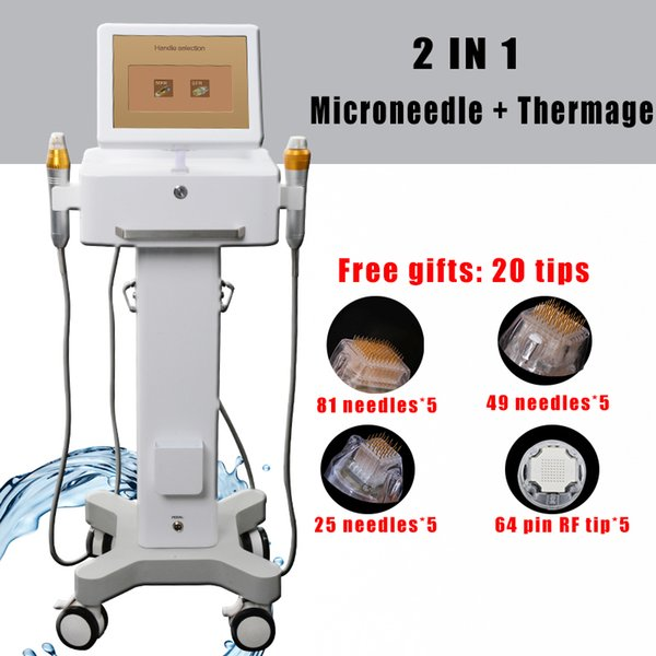 2 dans une machine à micro-aiguille soins de la peau rides thérapie microaiguille dermatologie dissolvant équipement RF fractionnaire