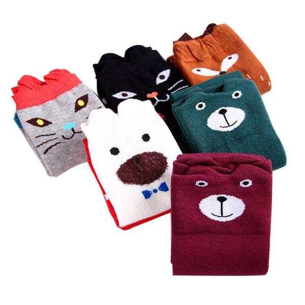 Cute Cartoon Children Sock Print Animal Cotton Baby Kid Sock Knee High Long Fox Socks For Toddler Girl Clothing Accessories