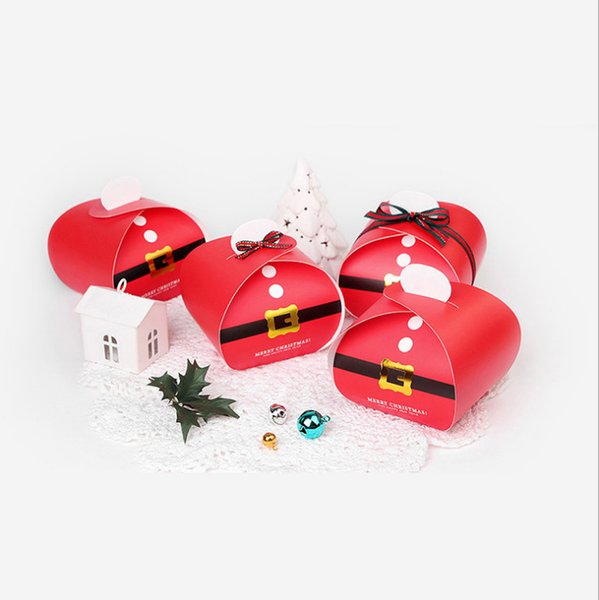 Christmas Gift Packing box for Candy Cookies Packing box red creative food packaging box