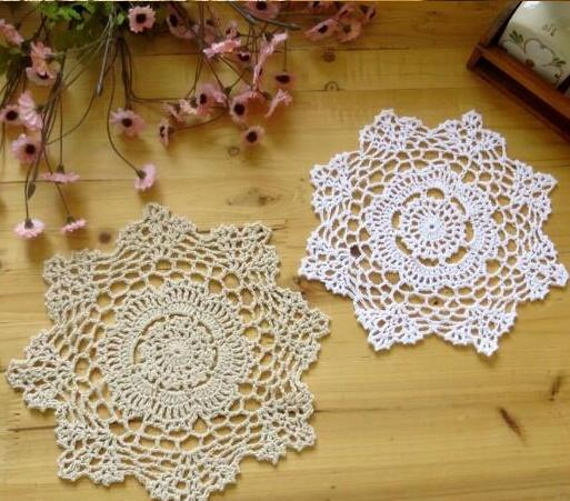 Handmade Round Table Mat Cotton Crochet Placemat Cup Pad Mug Coasters Coaster Doily Christmas Placemats For Kitchen Table