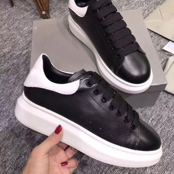 Chaussures décontractées noires à lacets Designer Sneakers