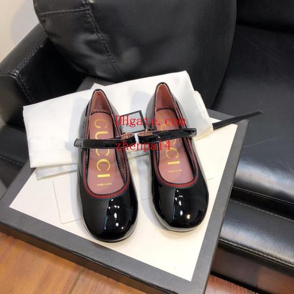 Meninas high-end sapatos de couro meninas casuais moda vermelho preto sapatilhas planas confortáveis tamanho 26-35 yt-009