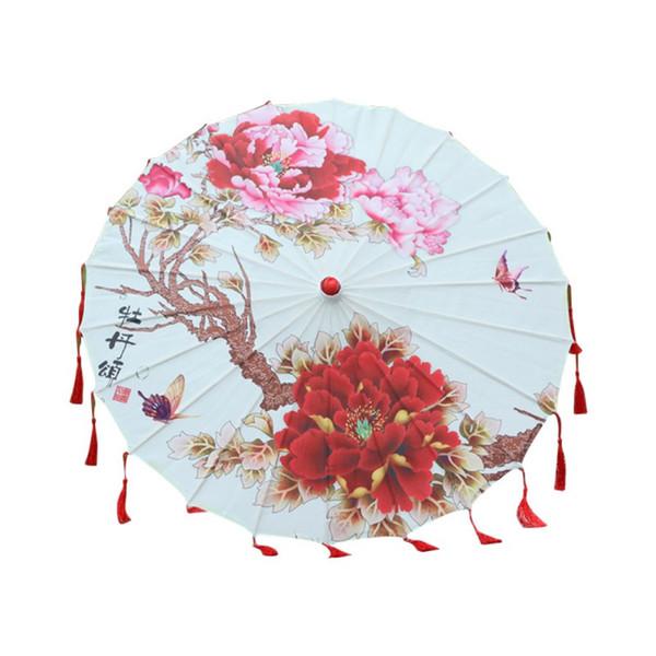 Новое искусство Зонт китайского шелка ткань зонтика Классический Стиль Декоративная вощанка Окрашенные Зонтик