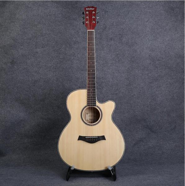 Factory 40 inch mid-range matte spruce Basswood guitar ballad corner guitar factory direct