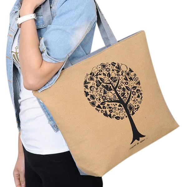 Cheap Fashio Women Canvas Large Capacity Casual Handbag Tote Bag Top-handle Bag Shoulder Shopping Bag Purse Wholesale Drop Shipping #T