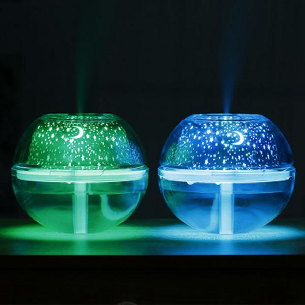 USB Crystal Night Lamp Proiettore 500ml Umidificatore d'aria Desktop Aroma Diffusore Ultrasuoni Nebbia LED Night Light per la casa ZZA388