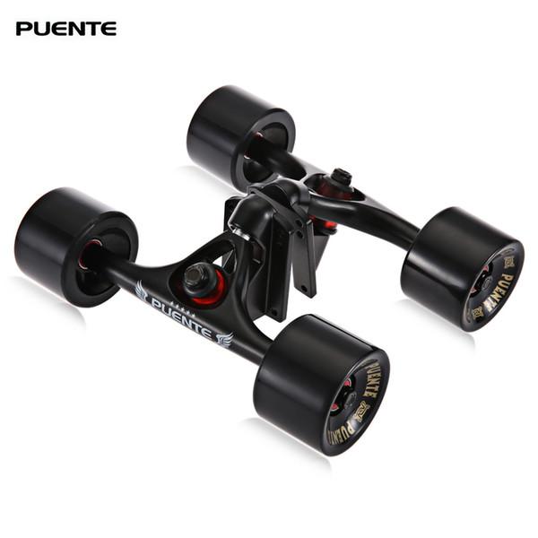 PUENTE 2pcs / Set 10.24 Inches Skateboard Truck With Skate Wheel Riser ABEC - 9 Bearing Bolt Nut For Outdoor Skateboarding