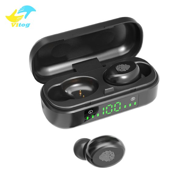 Vitog V8 TWS Touch Control Bluetooth 5.0 Headphones earphones LED Display Wireless Sports Stereo Earbuds Headset