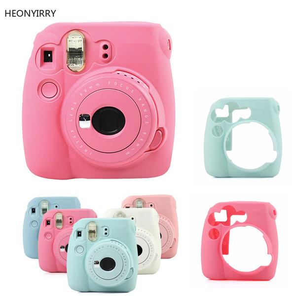HEONYIRRY For Fuji Instax Mini 9 Mini 8 8+ Camera Case Classic Noctilucent Instant Camera Case Skin Cover