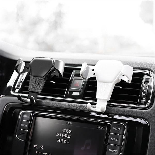 Support de véhicule de téléphone portable Auto-serrage Air Vent véhicule titulaire universel support de gravité de téléphone pour IPhone Samsung HuaWei