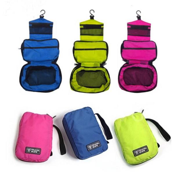 1 Pcs Travel Hanging Toiletry Bag Large Kit Folding Makeup Polyester Organizer Foldable Cosmetic Bag Large Kit for Men & Women