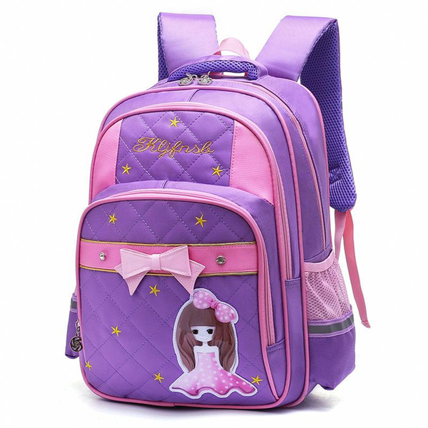 New Kids Schoolbags for Girls Waterproof Bookbags Children Princess Orthopedic Backpack Primary Escolar Satchel Infantil