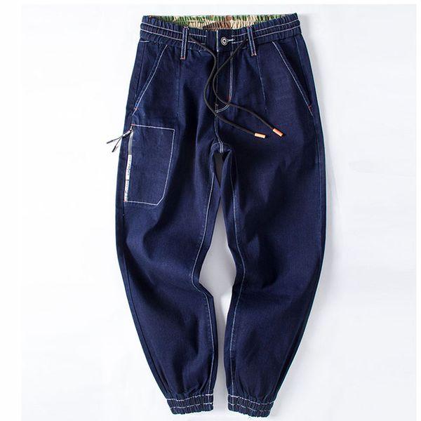 Mens marca skinny jeans pant 2019 elástico na cintura cordão calças de ganga homme estiramento harem pants plus size s-xxxxxxl streetwear