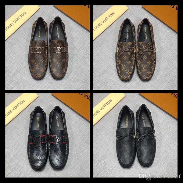 Moda para hombre de la borla del holgazán negro marrón patchwork de cuero de vaca y crin de deslizamiento en los zapatos de vestir del dedo del pie puntiagudo zapatos casuales de los hombres 38-44