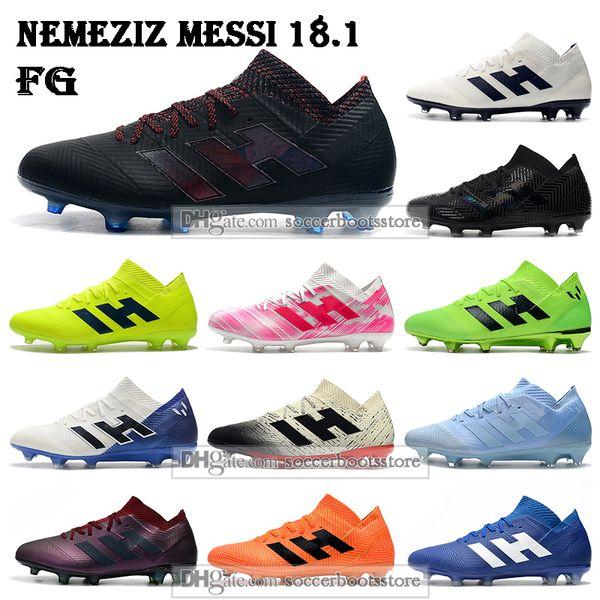 New Mens Low Ankle Football Boots Nemeziz Messi 18.1 Firm Ground Soccer Cleats Nemeziz 18.1 FG Soccer Shoes