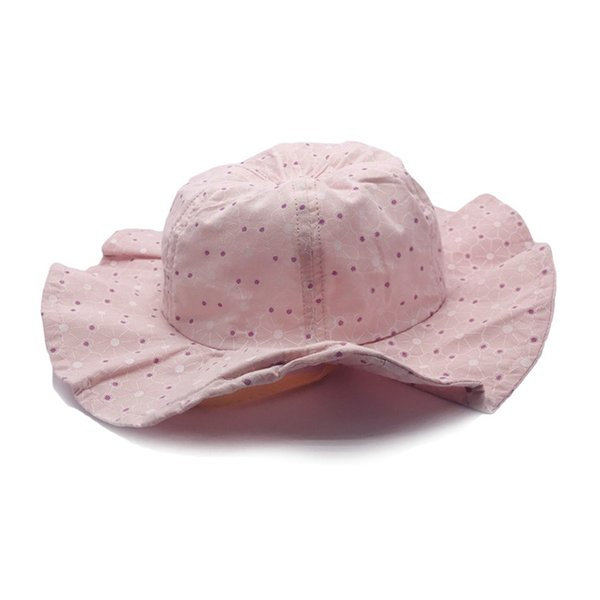 Kids Bucket Hat Caps Baby Girls Boys 2019 Casual Dot Sun Hat Topee Beanie Caps Children Accessories Fit 6-24M Baby Q182