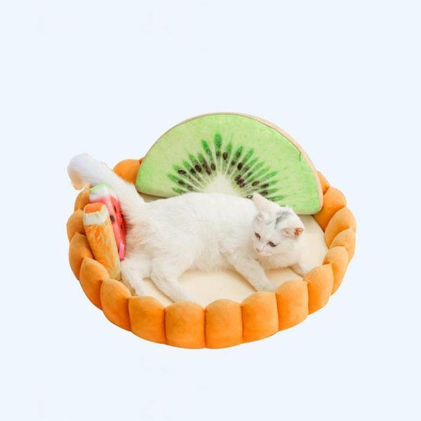 Pet Düzgün Yumuşak Pet Yatak Yumurta Tart Şekli Sıcak Yuva Kedi Küçük Köpek Yavrusu Kennel Yatak Kanepe Turuncu Uyku Tulumu Mağara-B ...