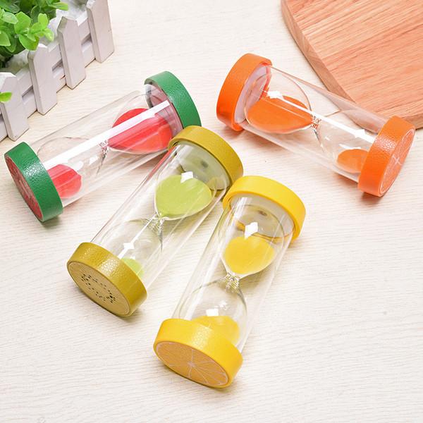 Minutos Handmade Requintado Criativo Fruta Design Ampulheta Sandglass Areia Relógio Temporizadores Artesanato Presentes Para Casa Ornamento Decoração