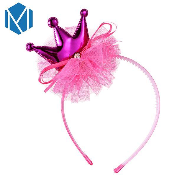 1PC Fashion Net Yarn Crown Hair Band with Rhinestone Headwear Ladies Girls Tiara Headband Bowknot Hair Hoop Hair Accessories